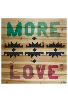 More Love Brown Distressed Wood Wall Art