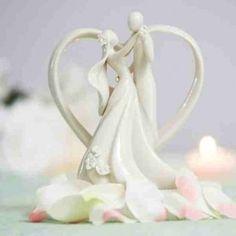 Figurine les mariés en porcelaine blanche - MARIAGE ORIGINAL (DT COMPANY)