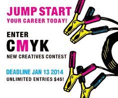 Int'l Call for New Creatives Portfolio Contest, CMYK Magazine, closes Jan 13 2014