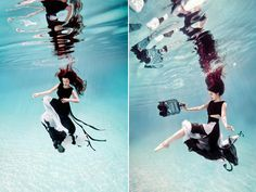 Designer Esin Ünlü enlisted photographer Isle Moore to capture her first couture collection, for Feline Blush, entirely under water.