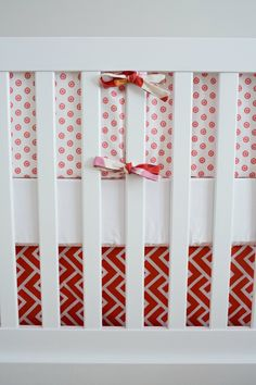 Mix of patterns and colors - #projectnursery #bedding