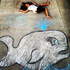 Chalk art with your kids!