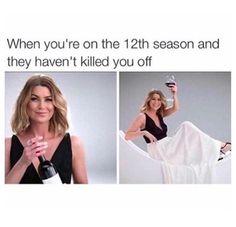 Grey's Anatomy- she better never kill Meredith off!
