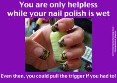Quite the manicure!