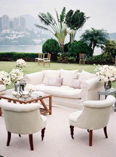 Cozy #wedding lounge | Photography: stevesteinhardt.com | Planning: www.theweddingco.hk | Design: www.ellermanndesign.com