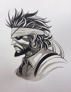 """traddmoore: """" I'm still in a dream, Snake Eater Art by Tradd Moore """" Big Boss Metal Gear, Metal Gear Solid, Dream Snake, New Ghost Rider, Tradd Moore, Secret Warriors, Game Concept Art, The Fox And The Hound, Comic Artist"""