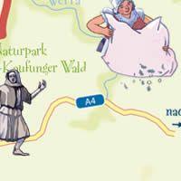 Deutsche Märchenstraße // Karte