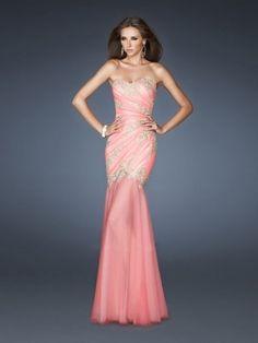 Trumpet/Mermaid Sweetheart Applique Sleeveless Floor-Length Dress