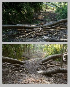 making mound, before and after