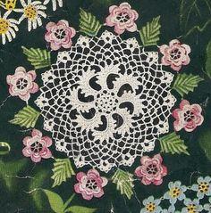 Irish Rose Doily Instant Download Digital by charmingcrochet