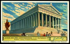 """Scenes of Ancient Athens"" German issue, 1933 2 Parthenon"