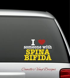 I Heart Love Someone with Spina Bifida by CamillesVinylDesigns, $10.00