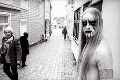 "Einar ""Kvitrafn"" Selvik of #Gorgoroth Bergen, Norway 2002"