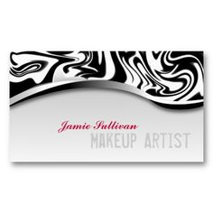 Sassy zebra print makeup artist business cards make your own zebra print makeup artist business card black and white with pink accents for more designs reheart Choice Image