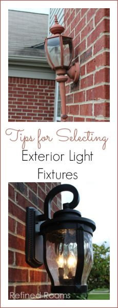 Tips For Selecting Exterior Light Fixtures Outdoor Garage Lights Lighting Wall