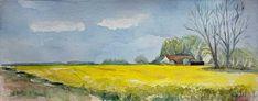 Bi uns to hus – Aquarelle und Ausstellungen Watercolor Drawing, Watercolor Landscape, Landscape Paintings, Baltic Sea, Urban Sketching, The Good Place, Drawings, Artist, Artwork