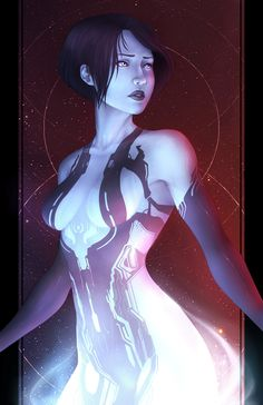 Halo: Cortana Fan Art - Created by Brittany Willows