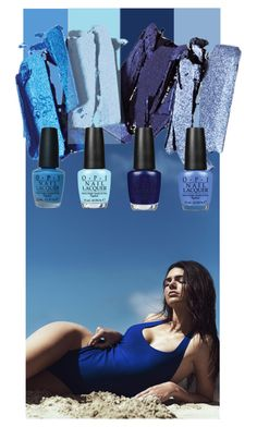 """Beauty Blues"" by alynncameron ❤ liked on Polyvore featuring beauty, Topshop and OPI"