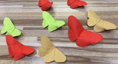 Motýl z papíru - postup/ Butterfly made from paper