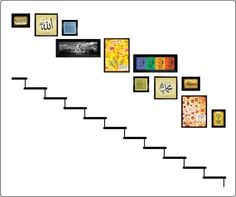 Staircase will have cutouts of cat and the hat related objects and people to cre. - For the Home - Pictures on Wall ideas Staircase Pictures, Home Pictures, Love Your Home, Design Your Home, Stair Layout, Gallery Wall Layout, Unique Wall Decor, Home Ownership, Staircase Design