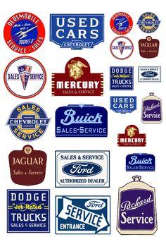 1:25 G scale vintage automobile sales & service sign