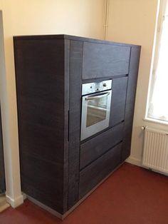 Meuble de cuisine en chêne vieilli Filing Cabinet, Lockers, Locker Storage, Furniture, Home Decor, Decoration Home, Room Decor, Locker, Home Furnishings