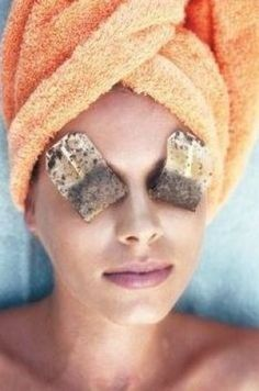 Tea bags are a great way to get rid of eye bags in a hurry!
