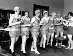 Cup of tea while you workout madam? Old school #fitness