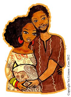 "Yes Lioness Arts — ""Ethiopian Expectation"" Greeting Card #Rasta #Love #Family"