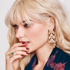 mark. Golden Dynasty Earrings borrow pagodas' trademark tiers and presence to…