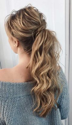 53 Best Ponytail Hairstyles { Low and High Ponytails } To Inspire , hairstyles Prom hairstyle, easy ponytails, puff ponytails Greasy Hair Hairstyles, Ponytail Hairstyles, Wedding Hairstyles, Updo, Ponytail Ideas, Hairstyle Ideas, Hair Ideas, Summer Ponytail, Puff Ponytail