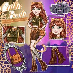 Catlin in Boots Source by mlpzm ideas for ocs Ever After High Rebels, Character Questions, American Girl Crafts, Barbie Princess, High Art, Monster High Dolls, Ooak Dolls, Cute Baby Animals, Barbie Clothes