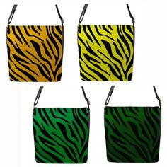 Yellow or Green Zebra Stripe Chameleon Removable Flap Shoulder Bag (Petite) Green Zebra, Chameleon, Baby Items, Shoulder Bags, Fashion Outfits, Yellow, Stuff To Buy, Ebay, Fashion Suits