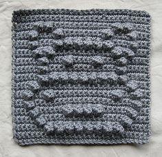 Ravelry: Hippo Bobble Chart pattern by Kari Philpott Crochet Puntada Bobble, Bobble Stitch Crochet Blanket, Crochet Quilt, Crochet Blocks, Crochet Chart, Crochet Squares, Baby Blanket Crochet, Crochet Motif, Crochet Stitches
