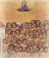 """Governor Agricola of Armenia was confronted with """"mutiny."""" Forty soldiers refused to offer the sacrifice ordered by emperor Licinius. The forty who stood before him that wintry fourth-century day in Sevaste were fine specimens of manhood who radia..."""