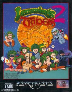 Lemmings They replaced the Lemming skill workers with tribes. I still played it a lot. I recall it getting monstrously hard towards the end especially with a SNES controller. It was easier with a mouse on the school Amigas. Retro Arcade, Retro Gamer, Classic Video Games, Retro Video Games, Video Game Posters, Video Game Art, Games Box, Old Games, Nintendo