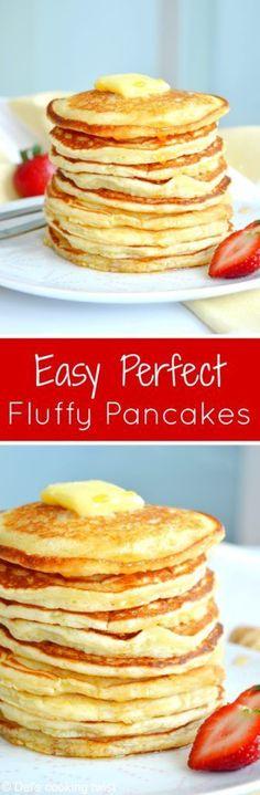 Easy Fluffy American Pancakes