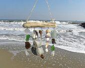 Beach Mobile, Sea Glass Wind Chime, Sea Shell Wind Chime, Beach Chime, Beach  Nautical Decor, Sea Shell Art
