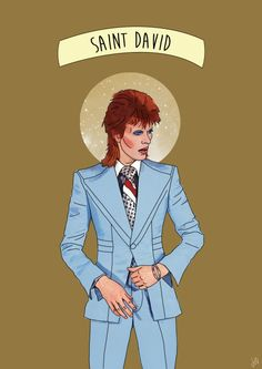 David Bowie illustration. Life on Mars inspired.