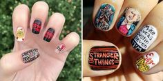 #StrangerThings fans are all painting their nails with the most iconic scenes from season 2! Check out the trend: | www.platosclosetnewmarket.com