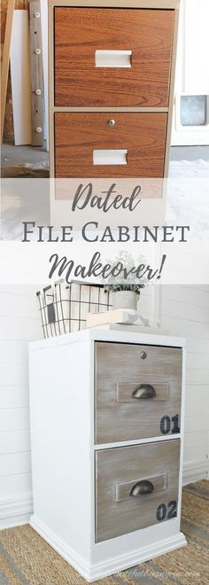Dated File Cabinet Gets an Industrial Makeover.