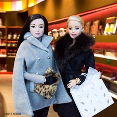 """""""My perfect Parisian Friday night…filled with friends and @PierreHerme macarons! #pfw #barbie #barbiestyle"""""""