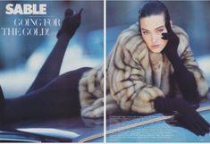 Tatjana Patitz by Wayne Maser - US Vogue Dec. 1986