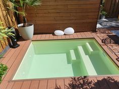 Pools For Small Yards, Small Swimming Pools, Swimming Pools Backyard, Pool Landscaping, Hot Tub Backyard, Small Backyard Pools, Ponds Backyard, Mini Pool, Shipping Container Swimming Pool