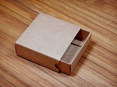 Drawer Box SET - Kraft Paper Box 3 Pcs - self assembly