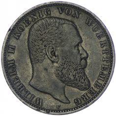 Württemberg, Wilhelm II. 1891 - 1918 5 Mark 1903 F Silber Deutsches Kaiserreich