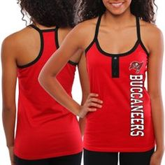 Tampa Bay Buccaneers Ladies Fragment Knit Tank Top - Red