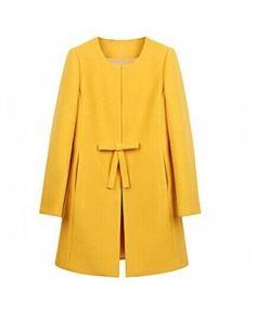 Цветное Шерстяное Длинное Корейское Новое Пальто