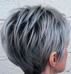 #hairstyles short hair + grey