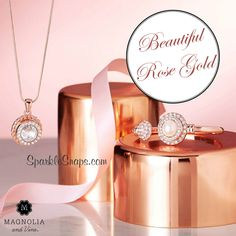 6e8bb7345d331 Magnolia and Vine Rose Gold ~ Magnolia and Vine is Interchangeable Jewellery  and Accessories that can